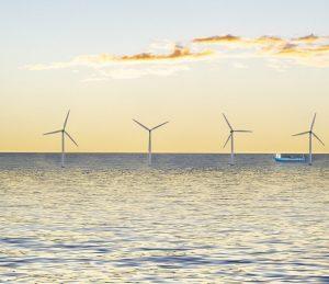 Wind farm power plant (offshore)